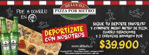 foto Promoción pizza + heineken