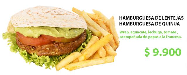 foto Promo Hamburguesa de Lentejas o Quinua